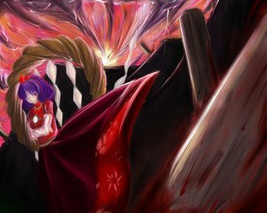 Rating: Safe Score: 25 Tags: sibanoue touhou yasaka_kanako User: PAIIS