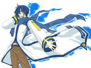 Rating: Safe Score: 22 Tags: all_male blue_eyes blue_hair kaito male scarf vocaloid white User: MarySan