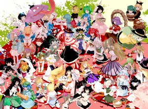 Rating: Safe Score: 94 Tags: alice_margatroid animal_ears apron barefoot black_hair blonde_hair blue_hair blush bow braids brown_hair bunny_ears bunnygirl catgirl chen cirno doll drink fairy food foxgirl grass gray_hair green_eyes green_hair group hakurei_reimu hat headband headdress heart hijiri_byakuren himekaidou_hatate hinanawi_tenshi horns hoshiguma_yuugi houjuu_nue ibuki_suika inaba_tewi izayoi_sakuya japanese_clothes kaenbyou_rin kagiyama_hina katana kawashiro_nitori kazami_yuuka kirisame_marisa kisume kochiya_sanae komeiji_koishi komeiji_satori konpaku_youmu kumoi_ichirin kurodani_yamame leaves long_hair luna_child maid medicine_melancholy miko minakata_sunao mizuhashi_parsee moriya_suwako mousegirl multiple_tails murasa_minamitsu myon nagae_iku nazrin onozuka_komachi pink_eyes pink_hair ponytail purple_hair red_eyes red_hair reiuji_utsuho remilia_scarlet ribbons saigyouji_yuyuko shameimaru_aya shanghai_doll shiki_eiki short_hair skirt star_sapphire su-san sword tail tatara_kogasa tears tie toramaru_shou touhou twintails umbrella unzan vampire weapon white_hair wings witch witch_hat yakumo_ran yakumo_yukari yasaka_kanako User: Neutral