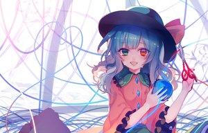 Rating: Safe Score: 85 Tags: aqua_hair bicolored_eyes blush daimaou_ruaeru fang hat komeiji_koishi tears touhou User: Flandre93