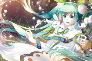 Rating: Safe Score: 49 Tags: green_eyes green_hair hatsune_miku long_hair phino_(jinko0094) vocaloid yuki_miku User: FormX
