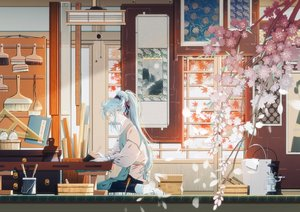 Rating: Safe Score: 55 Tags: all_male amada_(12785891) cherry_blossoms flowers genderswap glasses hatsune_miku male vocaloid User: FormX