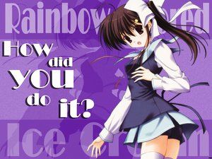 Rating: Safe Score: 2 Tags: nanao_naru rainbow_colored_icecream thighhighs User: Oyashiro-sama