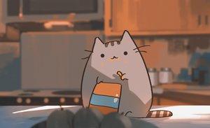 Rating: Safe Score: 124 Tags: animal cat cat_smile food original pusheen snatti User: otaku_emmy