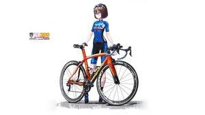 Rating: Safe Score: 28 Tags: bicycle bike_shorts brown_hair glasses gloves hitomi_kazuya original short_hair shorts skintight watermark white User: gnarf1975