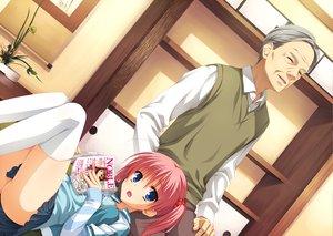Rating: Safe Score: 32 Tags: ass blue_eyes book game_cg kunihiro_hinata male muririn noble_works pink_hair skirt thighhighs yuzusoft User: Wiresetc
