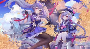 Rating: Safe Score: 43 Tags: 2girls animal autumn bird braids genshin_impact keqing_(genshin_impact) leaves loli long_hair meowlian ponytail purple_hair qiqi_(genshin_impact) tree twintails User: BattlequeenYume