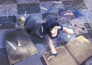 Rating: Safe Score: 96 Tags: book feathers myue_(snowmoonlight) original User: FormX