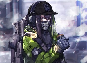 Rating: Safe Score: 74 Tags: anthropomorphism brown_eyes brown_hair girls_frontline gloves gun hat headphones long_hair m4a1_(girls_frontline) mask mishima_hiroji ponytail tom_clancy's_the_division weapon User: Nepcoheart