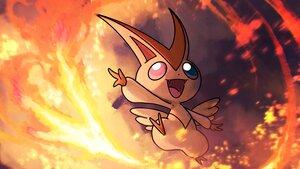 Rating: Safe Score: 10 Tags: fire higa-tsubasa nobody pokemon polychromatic victini User: otaku_emmy