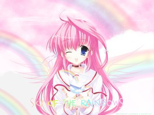 Rating: Safe Score: 32 Tags: fukamine_riko gift_(visual_novel) mitha pink_hair watermark wink User: Maho