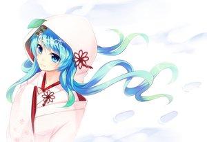 Rating: Safe Score: 88 Tags: blue_eyes close hatsune_miku japanese_clothes kimono shiraishiemu snow vocaloid wedding_attire white yuki_miku User: FormX