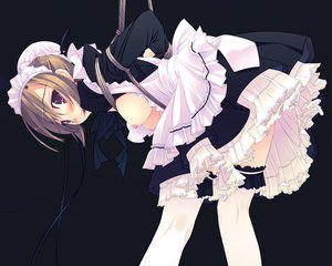 Rating: Questionable Score: 246 Tags: blush bondage breasts maid murakami_suigun nipples original User: Wiresetc