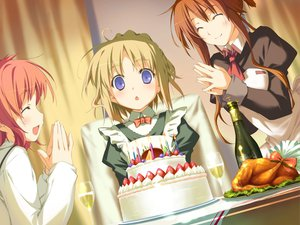 Rating: Safe Score: 0 Tags: amagahara_inaho cake food happy_magarette minahase_karin sakura_mao User: 秀悟