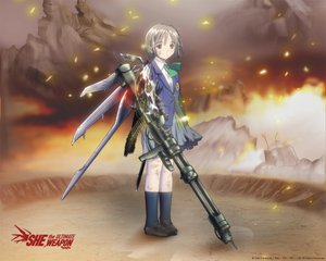 Rating: Safe Score: 16 Tags: chise fire gun saikano weapon wings User: Oyashiro-sama