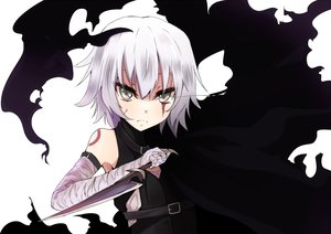 Rating: Safe Score: 28 Tags: bandage enelis fate/apocrypha fate_(series) gray_hair green_eyes jack_the_ripper knife scar short_hair User: RyuZU