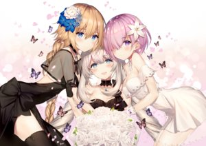 Rating: Safe Score: 26 Tags: aliasing butterfly dress fate/grand_order fate_(series) flowers hug jeanne_d'arc_(fate) long_hair marie_antoinette_(fate/grand_order) mash_kyrielight necomi short_hair User: BattlequeenYume