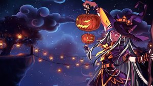 Rating: Safe Score: 108 Tags: dangan-ronpa dangan-ronpa_2 halloween hat long_hair mioda_ibuki monokuma night pumpkin rea9420 witch witch_hat User: Pratishka