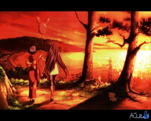 Rating: Safe Score: 3 Tags: air kirishima_hijiri kirishima_kano potato sunset User: Oyashiro-sama