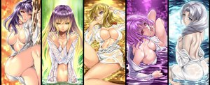 Rating: Questionable Score: 350 Tags: breasts cleavage hijiri_byakuren no_bra open_shirt saburou_(hgmg) saigyouji_yuyuko touhou wet yagokoro_eirin yakumo_yukari yasaka_kanako User: opai