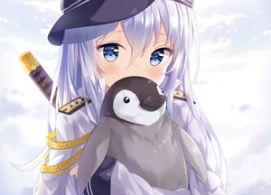 Rating: Safe Score: 143 Tags: animal anthropomorphism cropped hibiki_(kancolle) hitsukuya kantai_collection katana military penguin sword uniform weapon User: luckyluna
