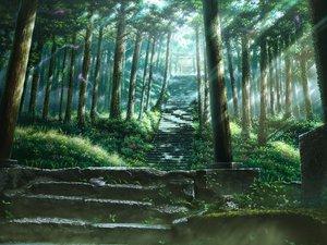 Rating: Safe Score: 213 Tags: forest kashi_takahisa kusakabe_satsuki scenic stairs tonari_no_totoro torii tree User: opai