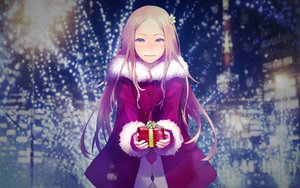 Rating: Safe Score: 110 Tags: brown_hair christmas green_eyes guilty_crown long_hair night ouma_mana redjuice santa_costume tie User: meccrain