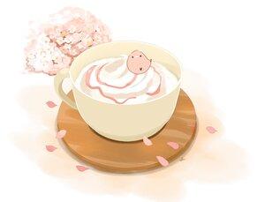 Rating: Safe Score: 15 Tags: animal bird chai_(artist) cherry_blossoms drink flowers original petals pink polychromatic User: otaku_emmy