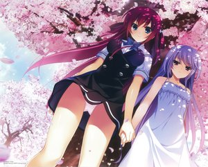 Rating: Safe Score: 147 Tags: 2girls blue_eyes bow breasts cherry_blossoms dress fumio grisaia_no_kajitsu kazami_kazuki long_hair panties petals pink_hair red_eyes scan seifuku skirt suou_amane underwear upskirt User: RyuZU