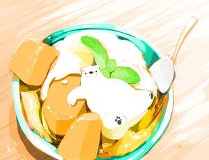 Rating: Safe Score: 17 Tags: animal bear chai_(artist) food fruit ice_cream nobody original polychromatic signed User: otaku_emmy