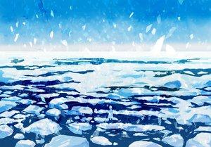 Rating: Safe Score: 47 Tags: monochrome original scenic sky snow water wayukako winter User: FormX