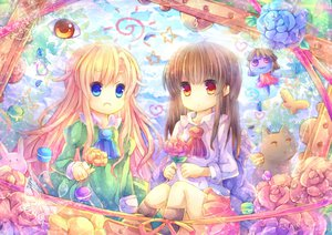 Rating: Safe Score: 52 Tags: blonde_hair blue_eyes brown_hair ib ib_(ib) mary_(ib) pjrmhm_coa red_eyes User: Zolxys