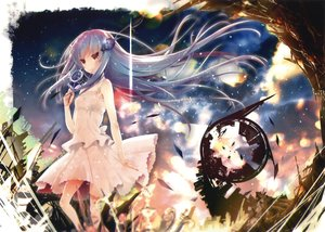 Rating: Safe Score: 99 Tags: akahito blue_hair long_hair original red_eyes scan skirt User: Flandre93