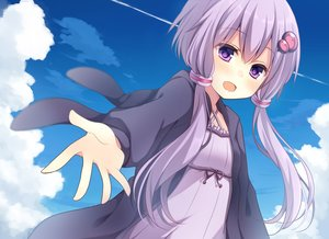 Rating: Safe Score: 101 Tags: clouds dress komomo_(ptkrx) long_hair purple_eyes purple_hair sky twintails vocaloid yuzuki_yukari User: Flandre93