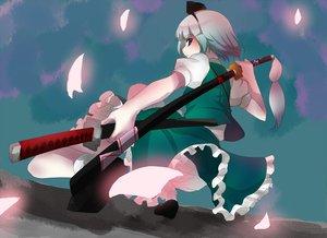 Rating: Safe Score: 34 Tags: katana konpaku_youmu sword touhou weapon User: happygestapo