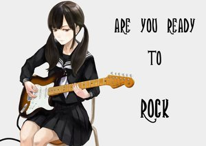 Rating: Safe Score: 31 Tags: ashiya_hiro brown_hair guitar instrument long_hair original red_eyes seifuku skirt twintails User: otaku_emmy