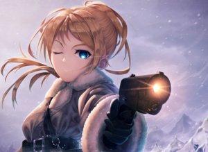 Rating: Safe Score: 27 Tags: ayase_eri gun kokkeina_budou love_live!_school_idol_project weapon User: FormX