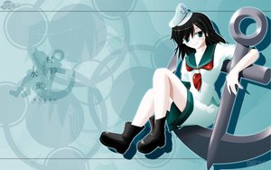 Rating: Safe Score: 7 Tags: black_hair green_eyes hat murasa_minamitsu side_b touhou uniform User: schellen