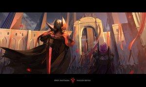 Rating: Safe Score: 69 Tags: armor cape kzcjimmy original pixiv_fantasia sword weapon User: FormX