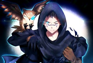 Rating: Safe Score: 29 Tags: all_male animal aqua_eyes bird gloves hoodie identity_v male owl ponita short_hair tagme_(character) tattoo wink User: ssagwp