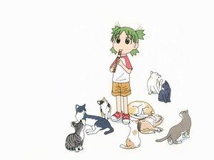 Rating: Safe Score: 6 Tags: animal azuma_kiyohiko cat koiwai_yotsuba music white yotsubato! User: Oyashiro-sama