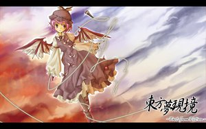 Rating: Safe Score: 26 Tags: animal_ears clouds dress gray_eyes hat microphone mystia_lorelei pink_hair short_hair touhou wings User: Oyashiro-sama