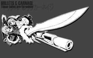 Rating: Safe Score: 12 Tags: dogs:_bullets_&_carnage gun knife luki miwa_shirow noki twins weapon User: Oyashiro-sama