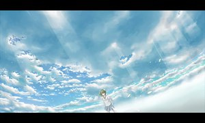Rating: Safe Score: 61 Tags: clouds green_hair gumi hazfirst sky vocaloid User: HawthorneKitty