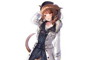 Rating: Safe Score: 40 Tags: animal_ears brown_eyes brown_hair catgirl final_fantasy final_fantasy_xiv hat midorikawa_you miqo'te ponytail tail white User: otaku_emmy