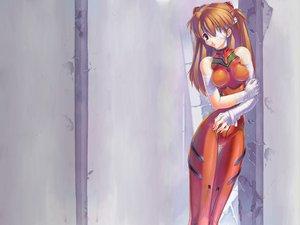 Rating: Safe Score: 26 Tags: bandage bodysuit gainax neon_genesis_evangelion skintight soryu_asuka_langley User: Oyashiro-sama