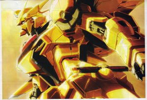 Rating: Safe Score: 72 Tags: akatsuki armor mecha mobile_suit_gundam robot sword weapon yellow User: Mattro