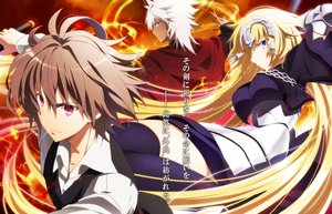 Rating: Safe Score: 12 Tags: armor blonde_hair brown_hair chain elbow_gloves fate/apocrypha fate_(series) gloves headphones jeanne_d'arc_(fate) long_hair male pochi-a purple_eyes shirou_kotomine short_hair tagme_(character) white_hair yellow_eyes User: RyuZU