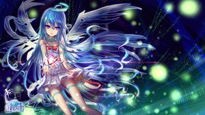 Rating: Safe Score: 77 Tags: blue_hair bow dress hc long_hair original purple_eyes wings User: Flandre93