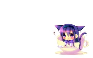 Rating: Safe Score: 62 Tags: akemi_homura animal_ears blush cat_smile catgirl chibi hina_hina mahou_shoujo_madoka_magica purple_eyes purple_hair tail white User: SciFi